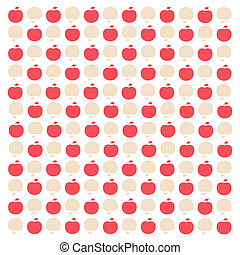Vintage-inspired mini apple pattern - A vintage-inspired...