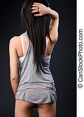 Tank top fashion backside