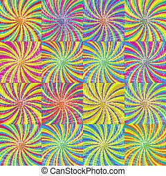 Colored twirls background seamless pattern