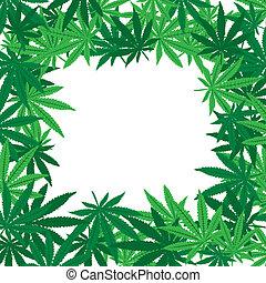 Foglie,  Marijuana, cornice