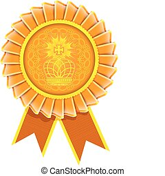 Vector award rosette label