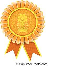 Vector award rosette label