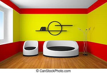 Modern design of an interior