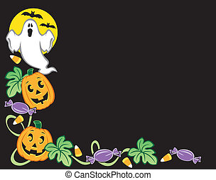 Halloween Border - Illustration of a Halloween border with...