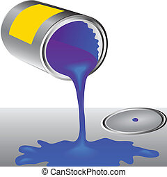 Can of the blue paint