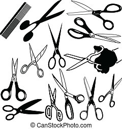 Scissors various vector