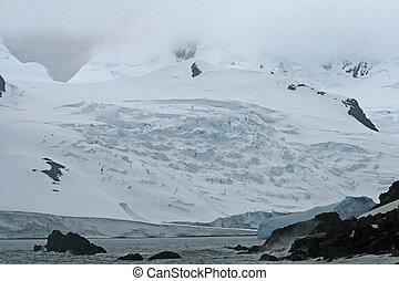 Half Moon Bay glacier Antarctica