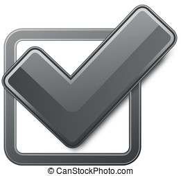 Black check box with check mark Vector illustration