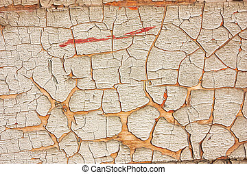 wood with peeling paint - wall of wood with peeling paint -...