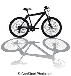 Silhouette Mountainbike - Illustration silhouette Mountain...