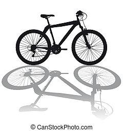 Silhouette Mountainbike - Illustration silhouette Mountain...