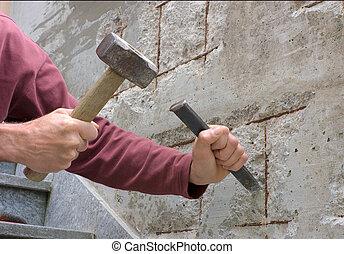 concreto, restauração