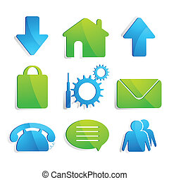 Web Icon - illustration of set of web icon on isolated...
