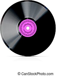 retro vinyl record - vector