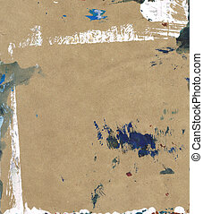 Beautiful blue and white paint splatters on classic brown...