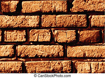Vector brick wall - Vector texture of old brick wall