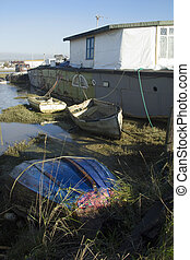 Houseboat - Alternative type of dwelling, one of a number of...