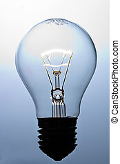 Lit light bulb - A magically lit light bulb