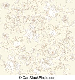 Seamless light - Decorative seamless light ivory background...