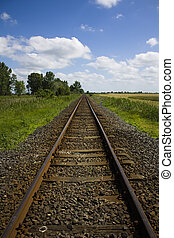 Train track to nowhere - Train tracks that disappear into...