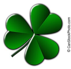 Shamrock - This illustration features the shamrock, a plant...