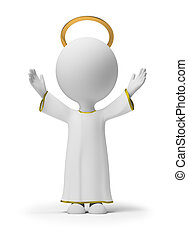 3d small people - God - 3d small people 3d image Isolated...