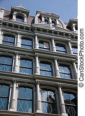 USA, New York, Greene Street, Soho. Architecture in New York