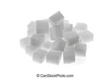 Muchos, pedazos, dulce, azúcar