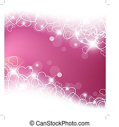 Love vector background made from white hearts valentines day...