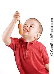 boy and carrot