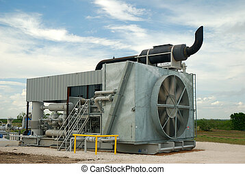 Gas Compressor - Gas compressor used to process gas for...