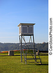 Meteorological station on the background of grass