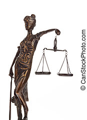 Justice with scales for Law and Justice - A Justice figure...