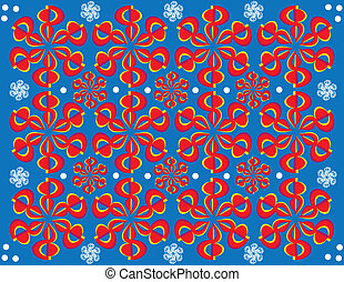 Ready to Roll (motion illusion) - Red ornaments spin in...