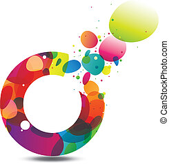 Circle of Colors Background - Abstract background with...