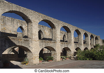 Colonade Wall - The walls and arches are the remaining...