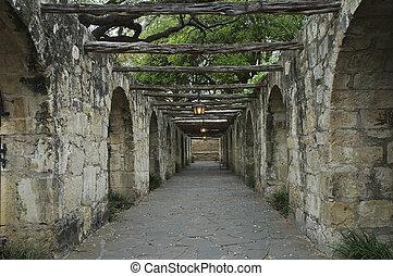 Alamo Walkway in the Evening Glow