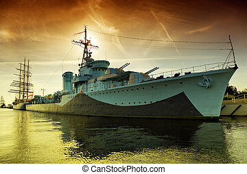Warship Grom-class destroyer serving in the Polish Navy...