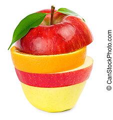 Fruit Mix. Isolated on white background.