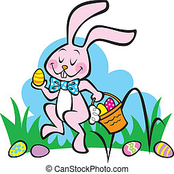 Here Comes the Easter Bunny! - Illustration of the Easter...
