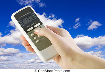control weather - remote from the conditioner in the womens...