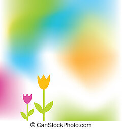 Spring background with copy space