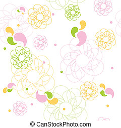 Seamless pattern - Cute floral pattern
