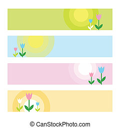 Spring web banners - Banners with copy space