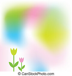 Spring card - Spring background with copy space