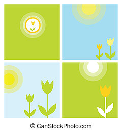 Spring backgrounds with copy space