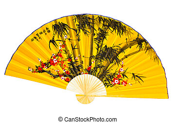 Fan - A fan on a white background Japanese Culture