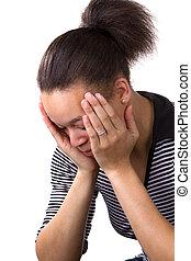 mulher, em, desespero