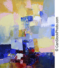 acrylic impasto painting - abstract art - hand painted...