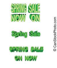 spring sale event signage